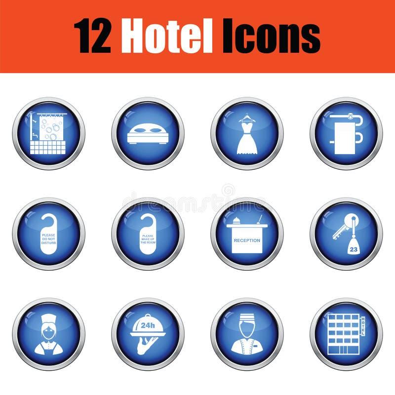 Download Ensemble De Douze Icônes D'hôtel Illustration de Vecteur - Illustration du hanger, dérangez: 77157503