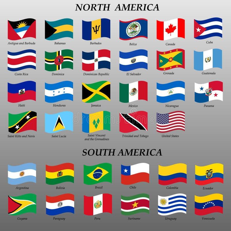 ensemble de drapeaux d'alerte des Amériques illustration libre de droits