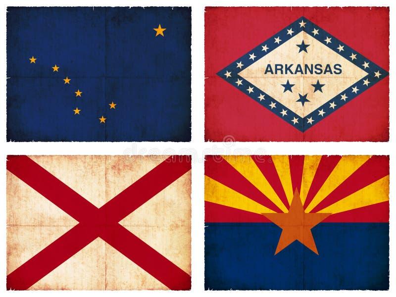 Ensemble de drapeaux d'Amérique du Nord illustration de vecteur