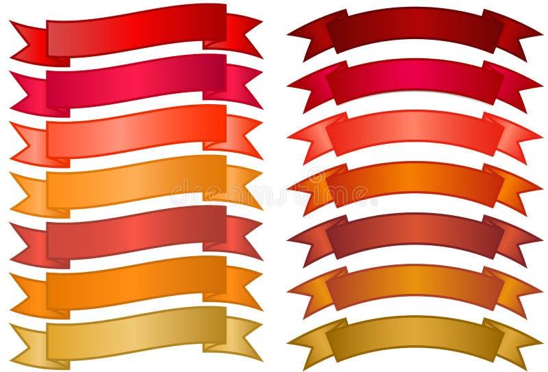 Ensemble de drapeaux simples illustration libre de droits