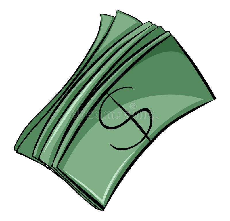 Ensemble de factures d'argent illustration de vecteur