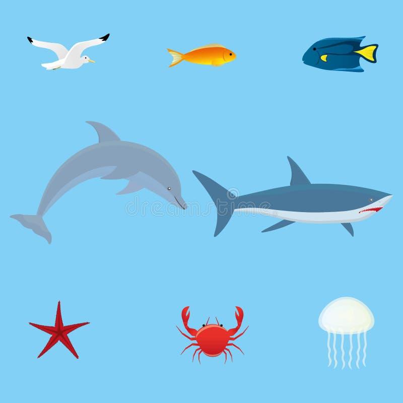 Ensemble de faune de mer image libre de droits