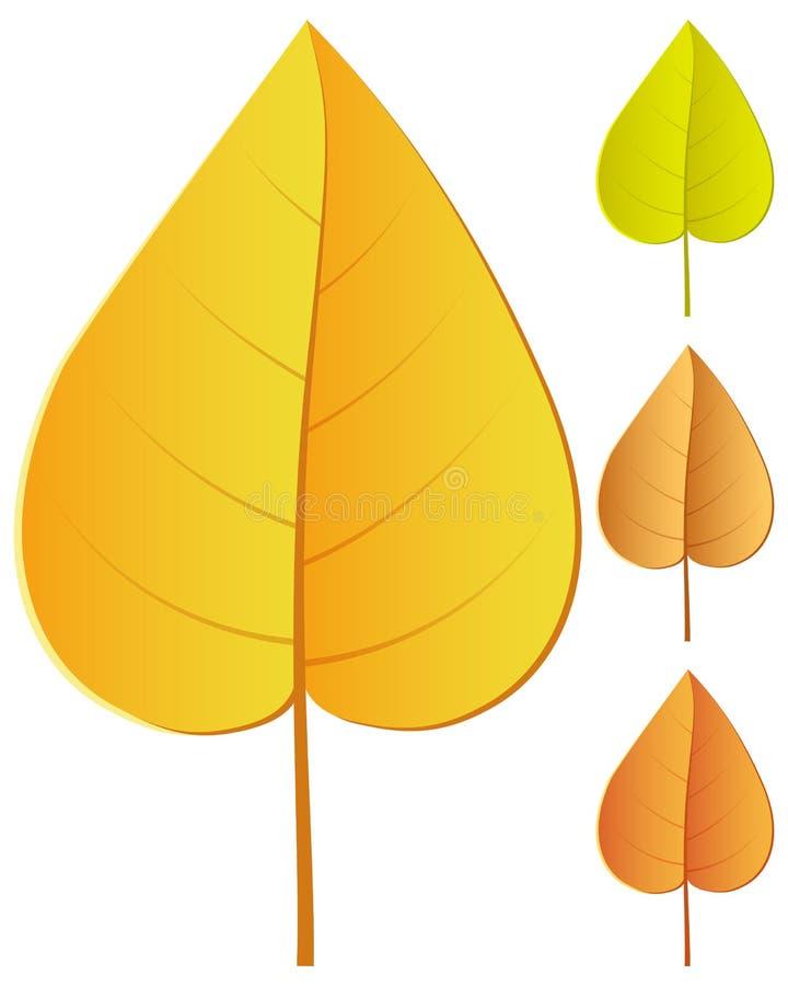 Ensemble de feuille d'automne illustration stock