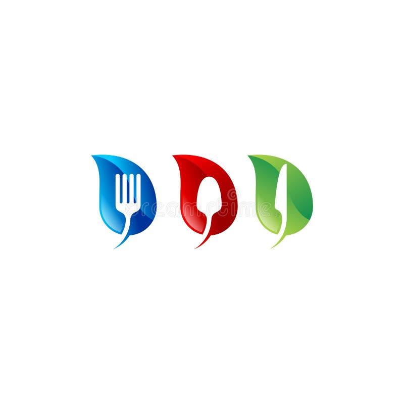 Ensemble de feuille de cuisine illustration stock