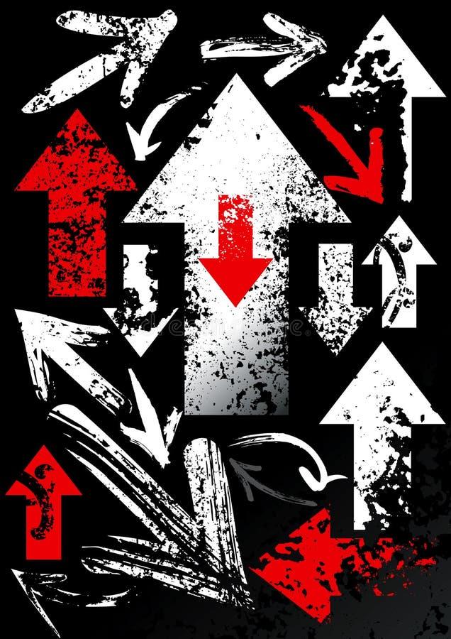 Ensemble de flèches noires illustration libre de droits