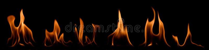 Ensemble de flammes d'incendie images stock