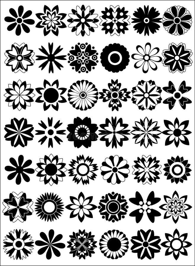 Download Ensemble de fleurs illustration de vecteur. Illustration du botanique - 3352182
