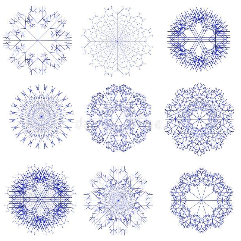 Ensemble de flocon de neige illustration libre de droits