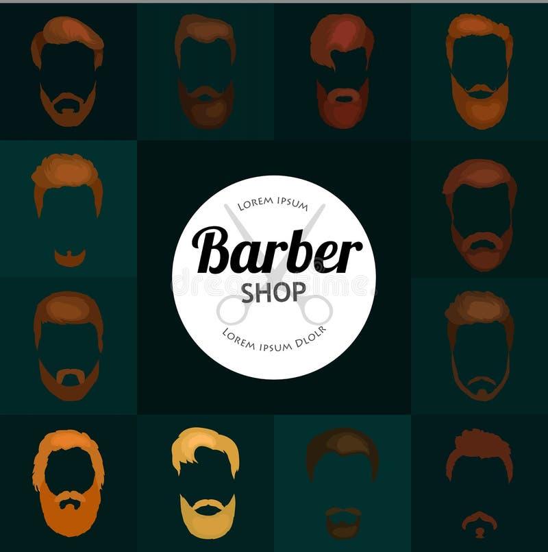 Ensemble de fond de Barber Shop ou de coiffeur illustration libre de droits