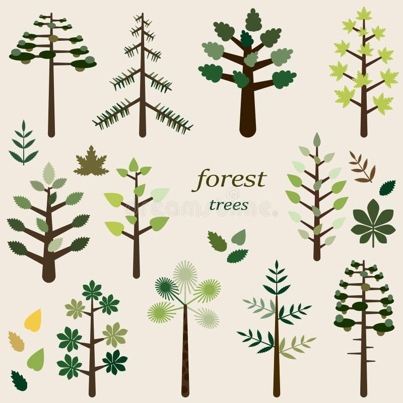 Ensemble de forêt illustration libre de droits