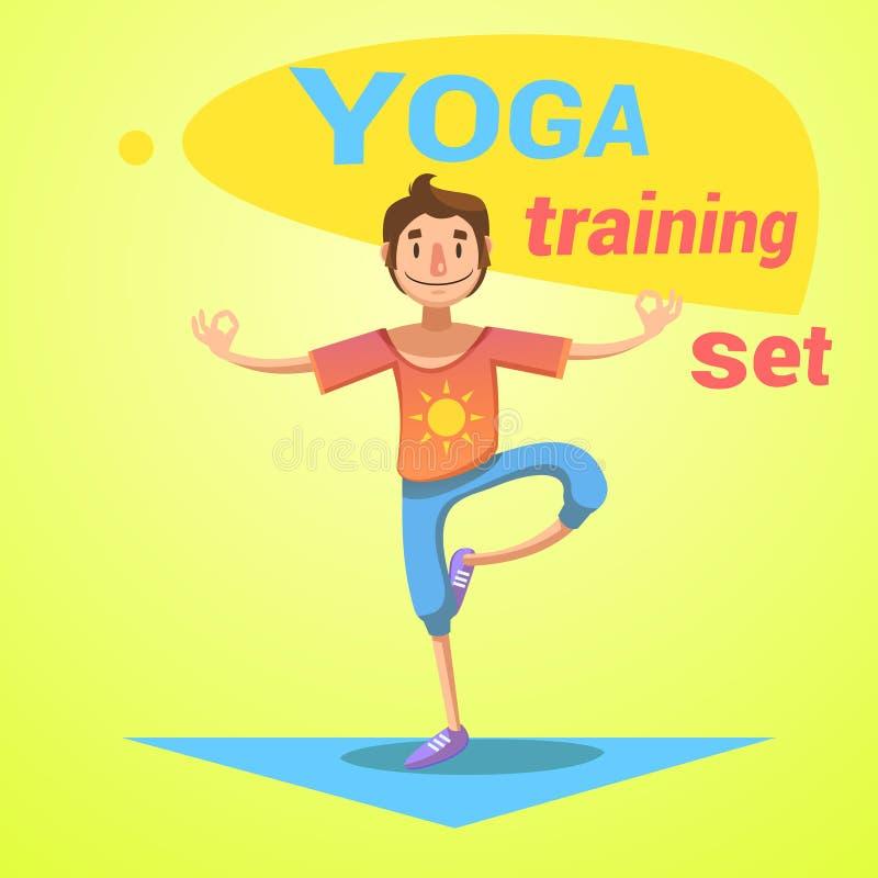 Ensemble de formation de yoga illustration libre de droits