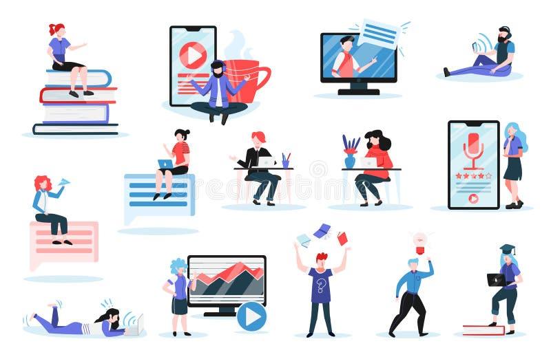 Ensemble de formation en ligne illustration stock