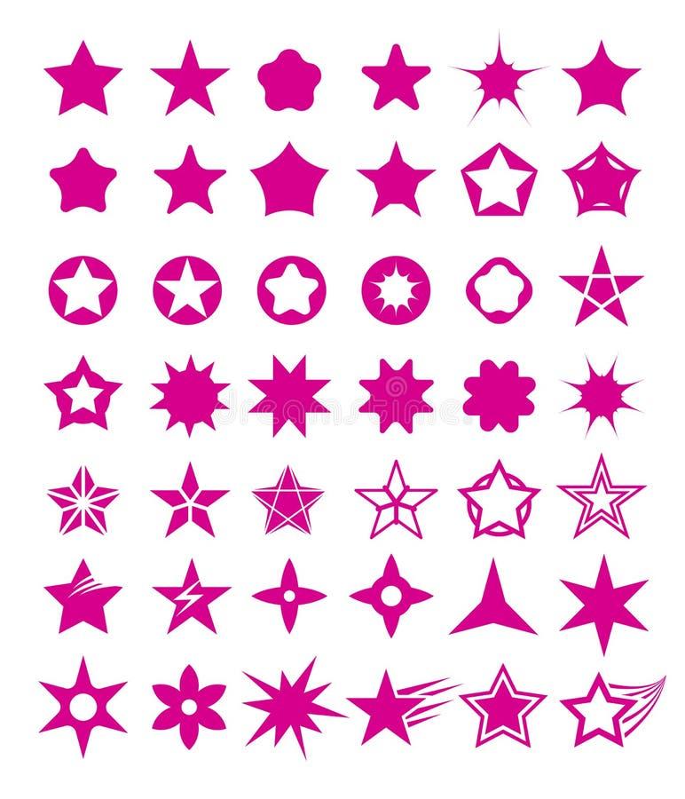 Ensemble de forme d'étoile illustration de vecteur