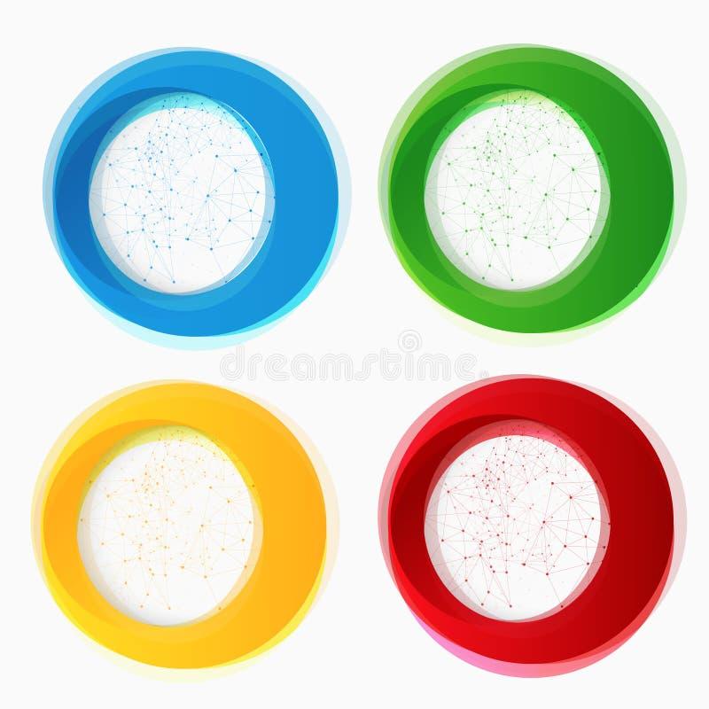Ensemble de formes colorées rondes de vecteur illustration de vecteur