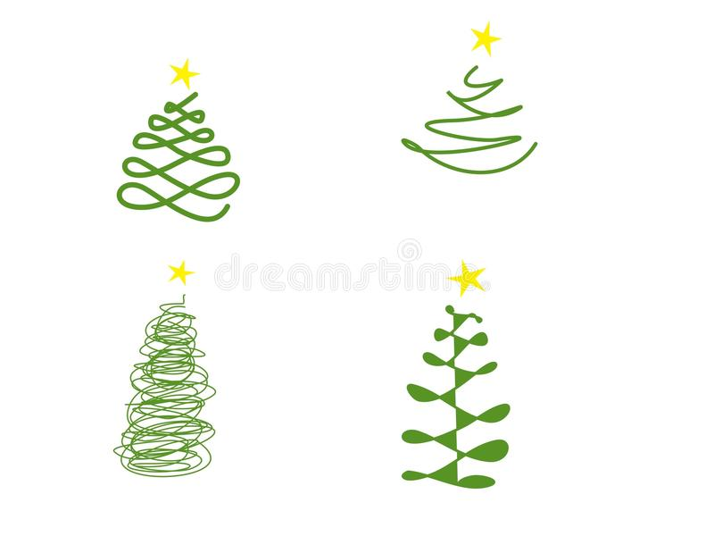 Ensemble de formes d'arbre de Noël photos stock
