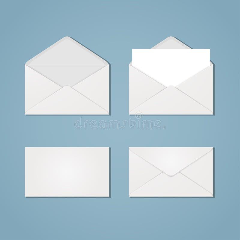 Ensemble de formes d'enveloppe illustration de vecteur