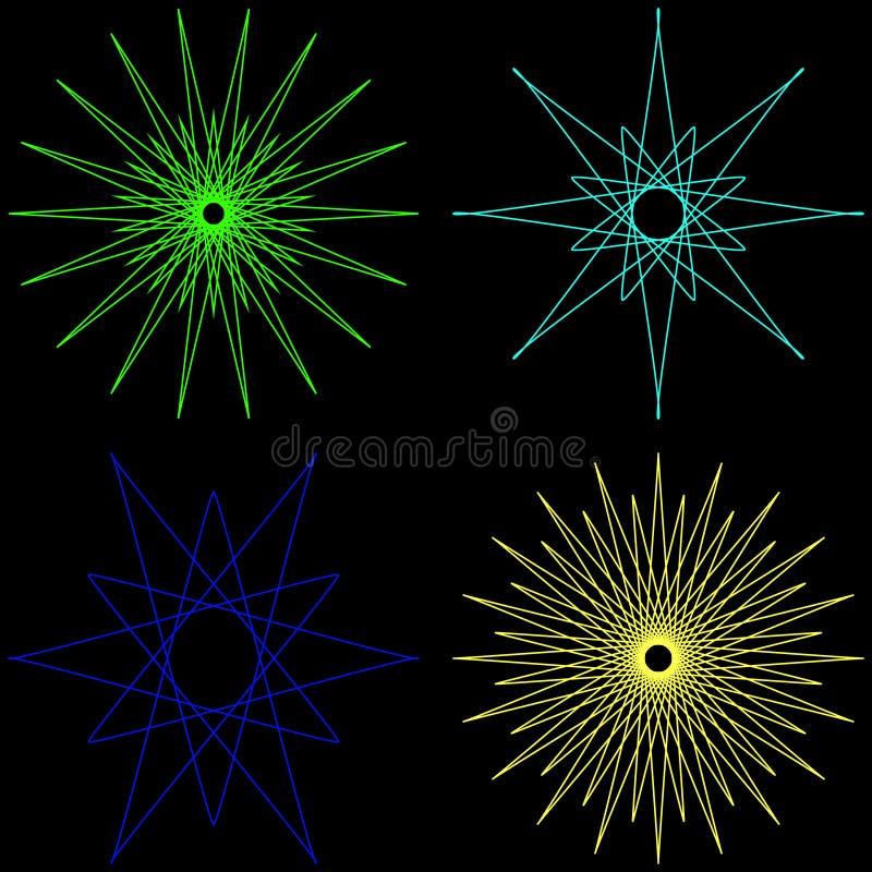 Ensemble de formes géométriques illustration libre de droits