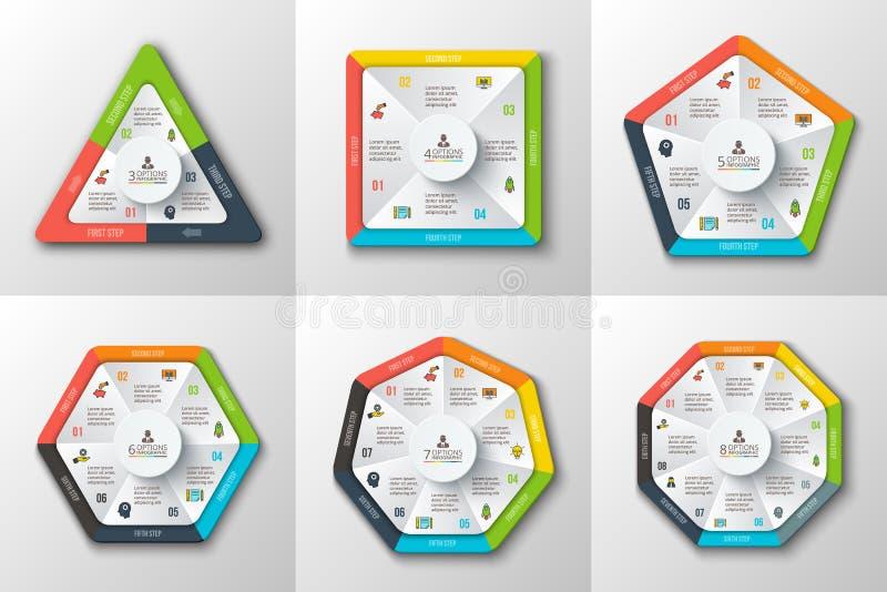 Ensemble de formes géométriques pour infographic illustration libre de droits