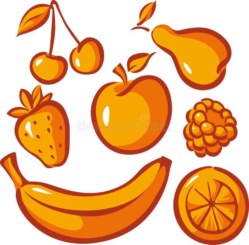 Ensemble De Fruit Image stock