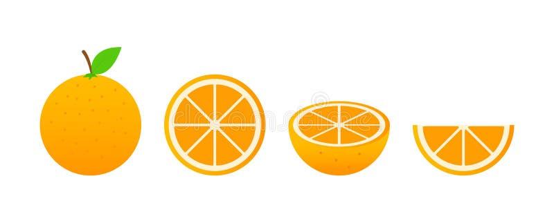 Ensemble de fruits Collection de fruit d'été Porte des fruits l'orange Végétarien et nourriture d'écologie Illustration de vecteu illustration de vecteur