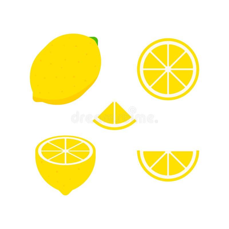 Ensemble de fruits et de baies Fruit d'?t? Pomme de fruit, poire, fraise, orange, pêche, prune, banane, pastèque, kiwi d'ananas illustration libre de droits