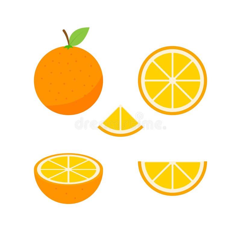 Ensemble de fruits et de baies Fruit d'?t? Pomme de fruit, poire, fraise, orange, pêche, prune, banane, pastèque, kiwi d'ananas illustration de vecteur