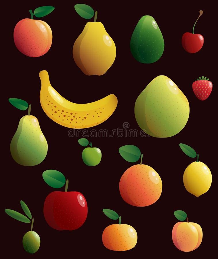 Ensemble de fruits Illustration de vecteur image libre de droits