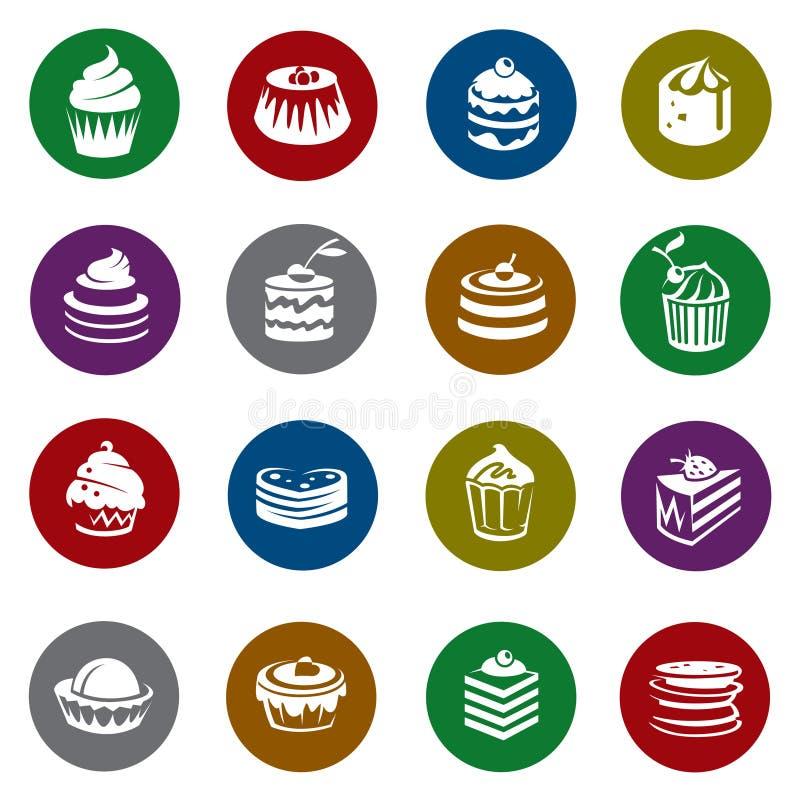 Ensemble de gâteaux illustration libre de droits