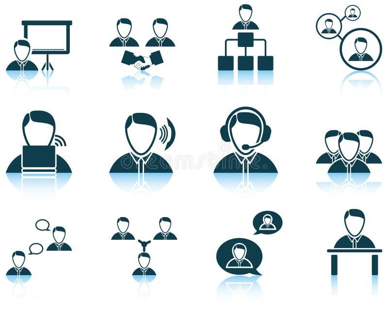 Ensemble de gens d'affaires d'icône illustration de vecteur