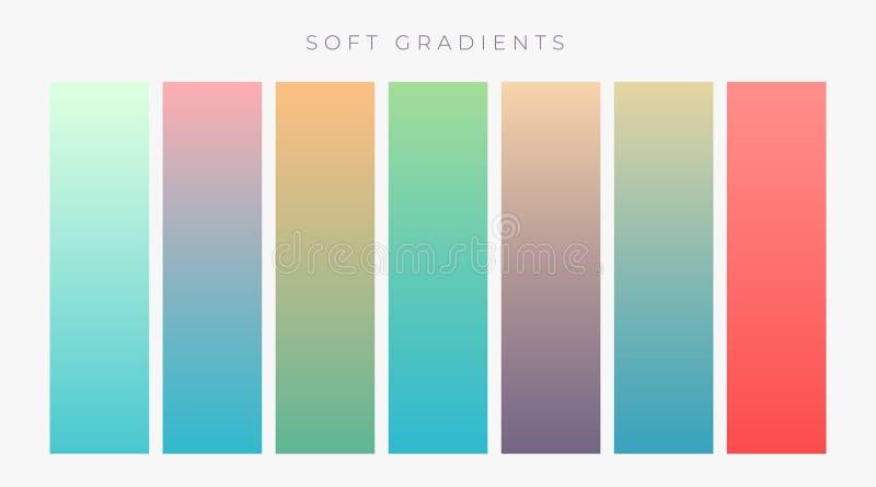 ensemble de gradients colroful lumineux réglés illustration stock