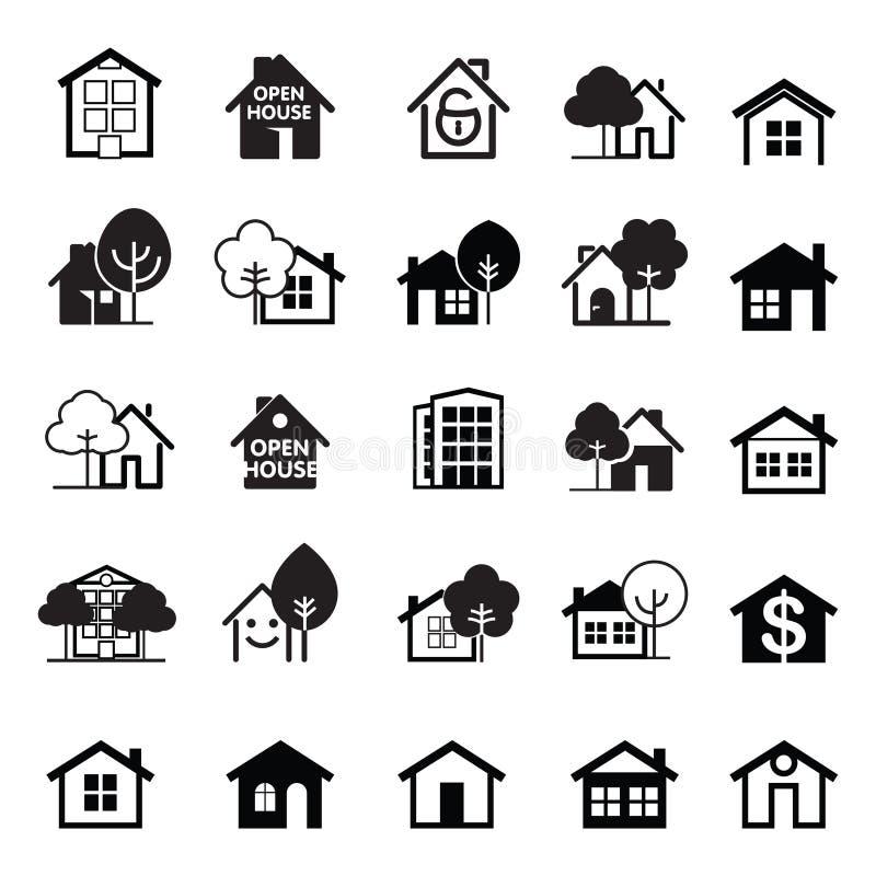 Ensemble de graphisme de maison Illustration de vecteur illustration stock