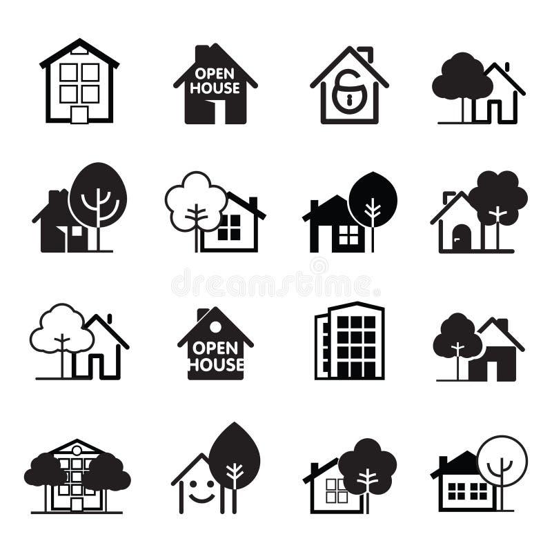 Ensemble de graphisme de maison Illustration de vecteur illustration libre de droits