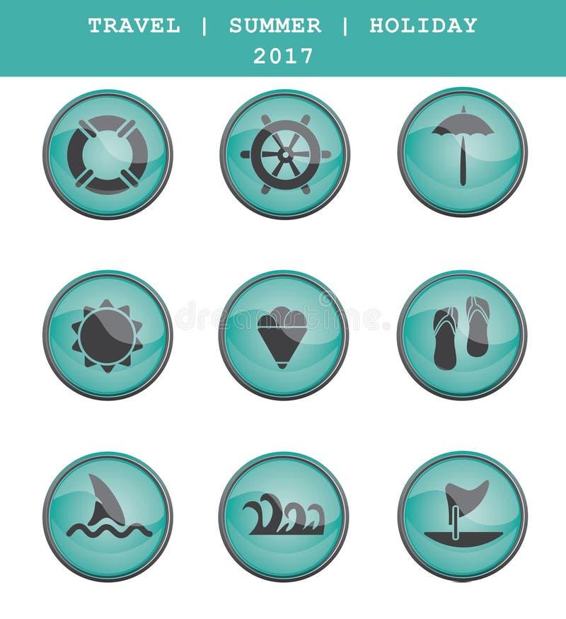 Ensemble de graphismes de course Vacances d'été Vecteur ENV 10 illustration libre de droits