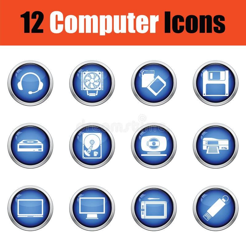 Download Ensemble De Graphismes De L'ordinateur Icons Illustration de Vecteur - Illustration du internet, commutateur: 77157609