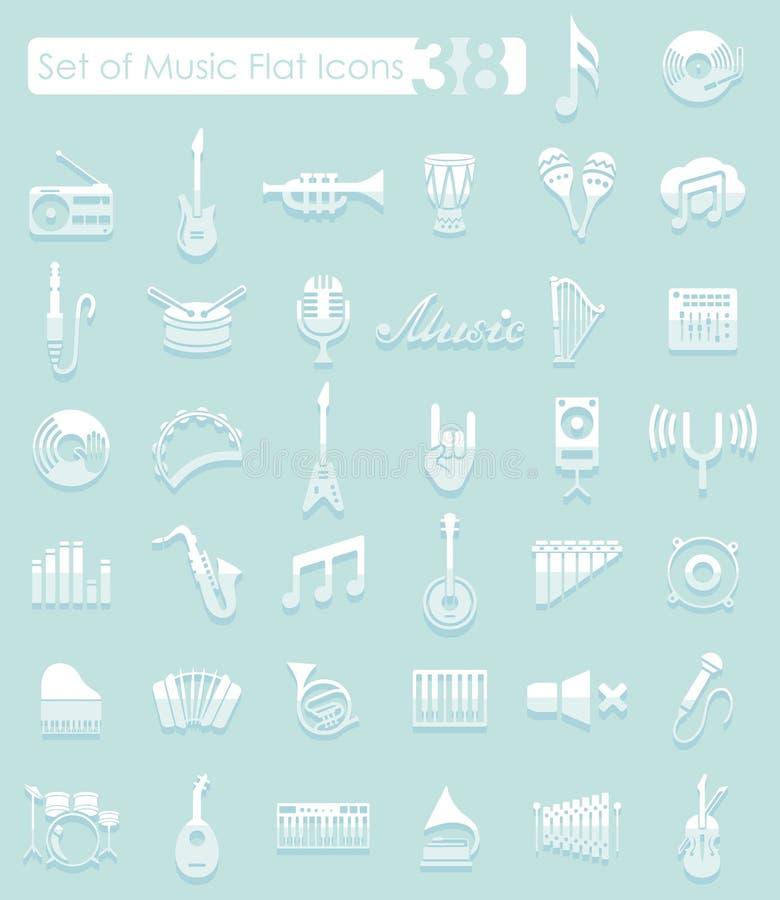 Ensemble de graphismes de musique illustration libre de droits