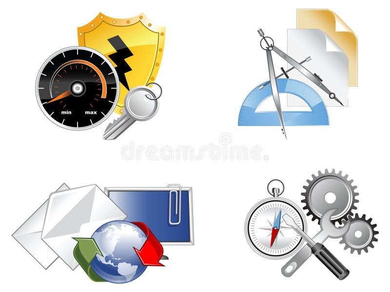 Ensemble de graphismes de Web illustration stock