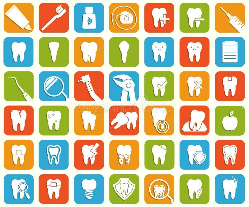 Ensemble de graphismes dentaires illustration de vecteur