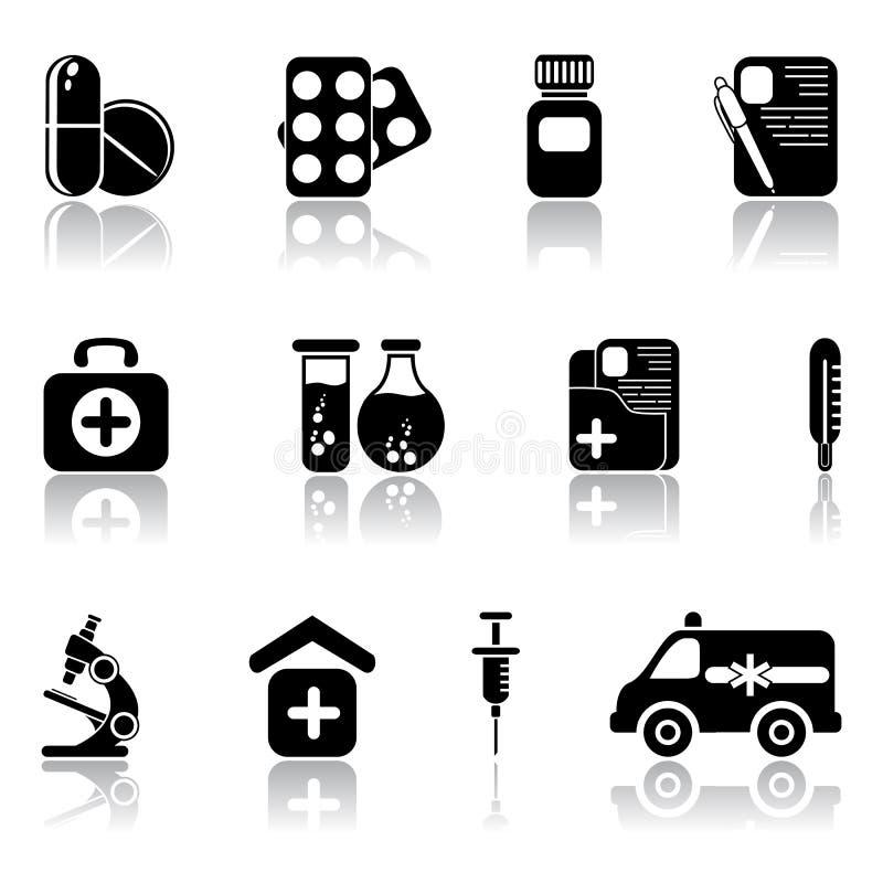 Ensemble de graphismes médicaux illustration de vecteur