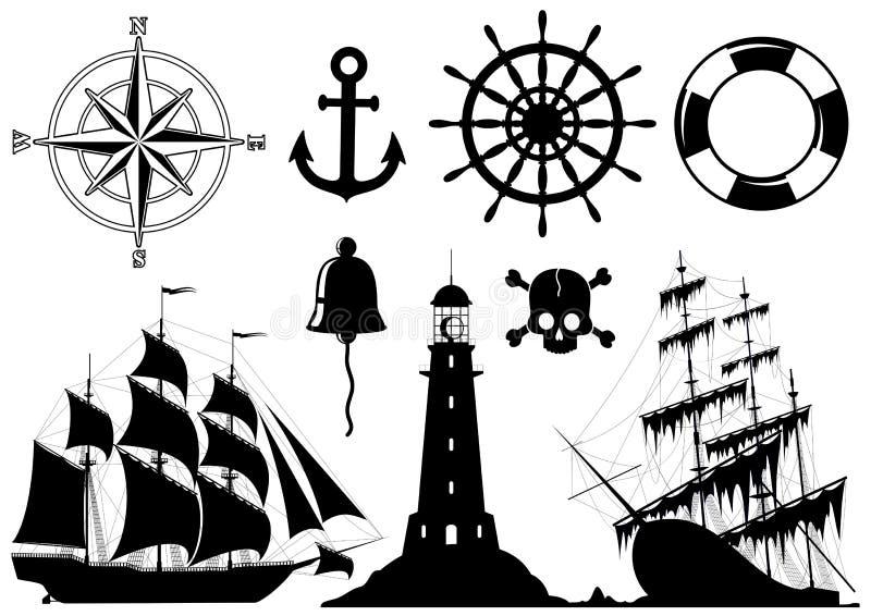 Ensemble de graphismes nautiques