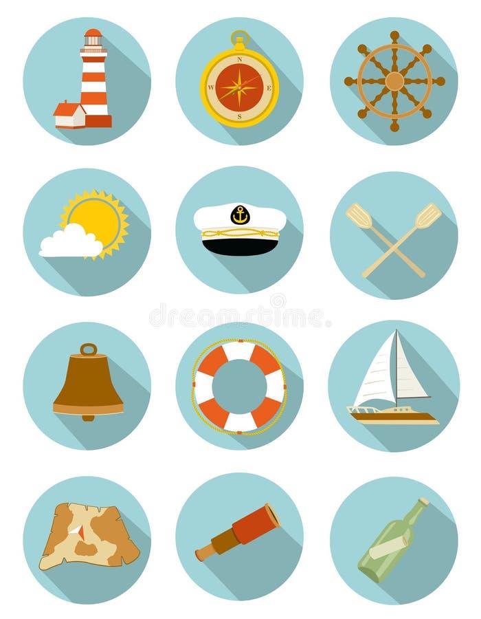 Ensemble de graphismes nautiques illustration stock