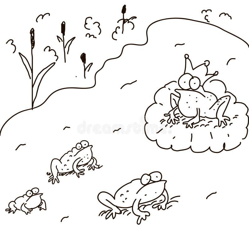 Ensemble de grenouilles Vecteur illustration de vecteur
