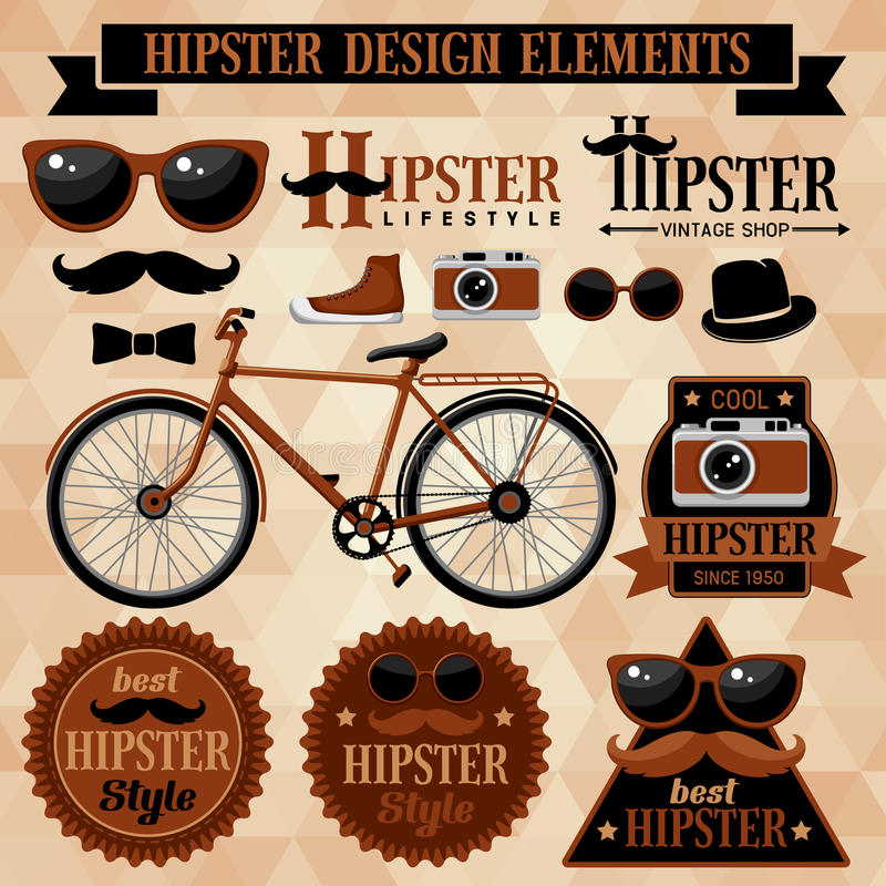 Ensemble de hippie illustration stock