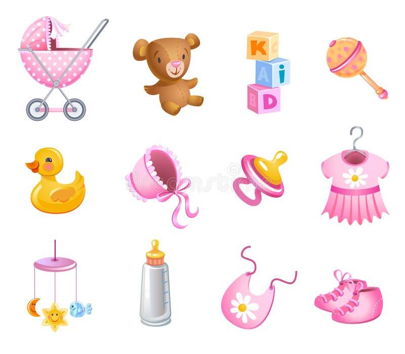 Ensemble de jouets illustration libre de droits
