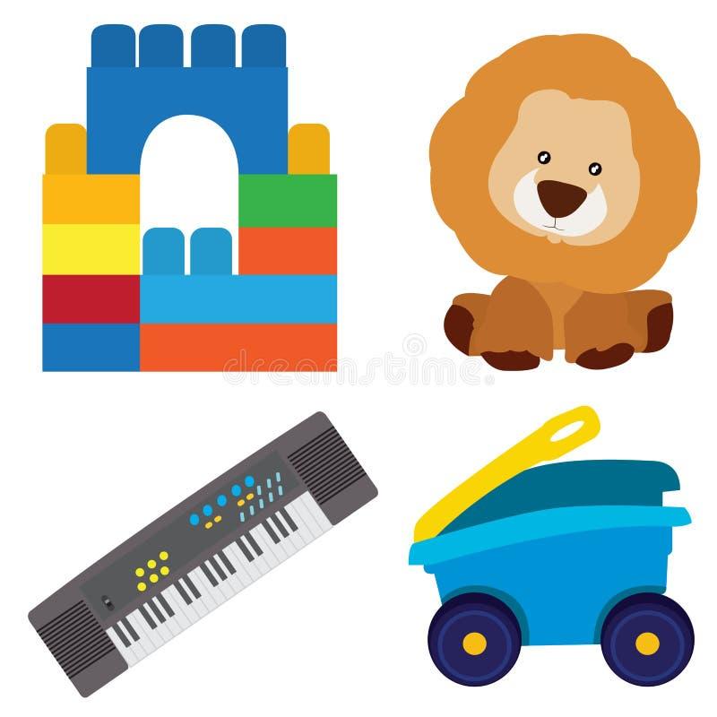 Ensemble de jouets illustration de vecteur