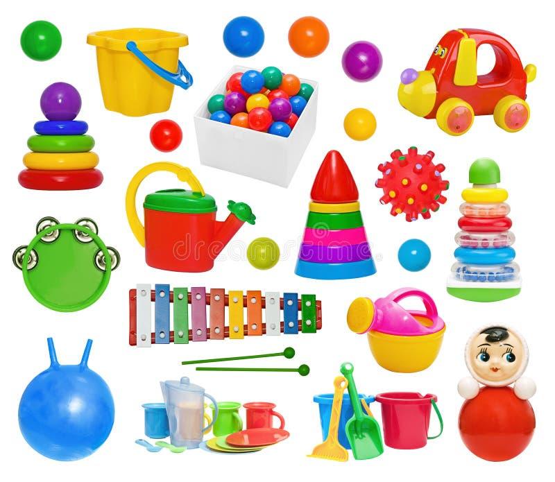 Ensemble de jouets en plastique image libre de droits