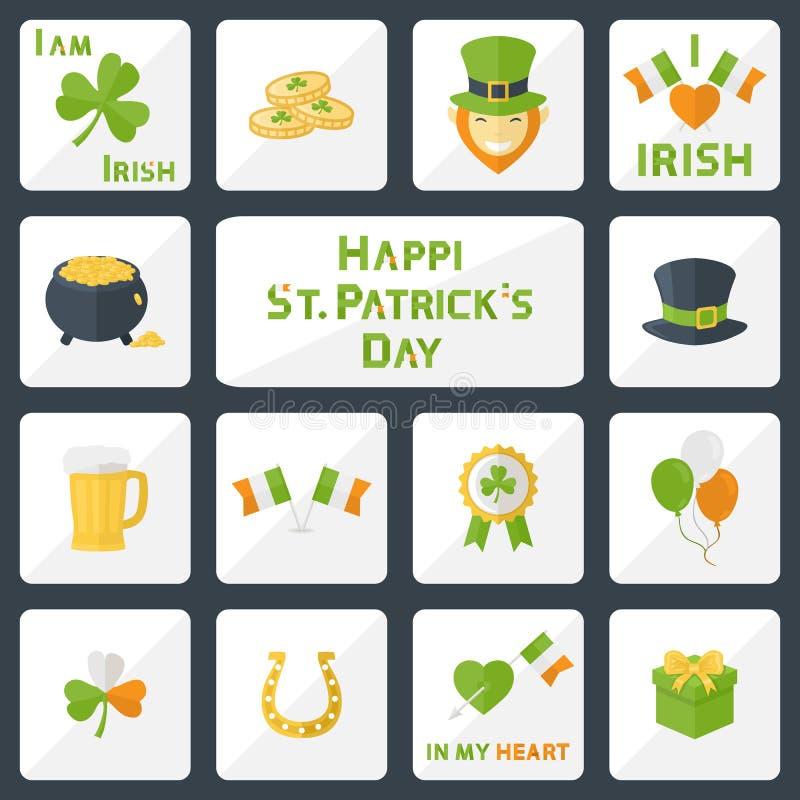 Ensemble de jour de St Patricks illustration stock