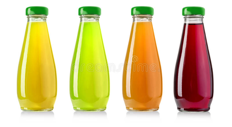 Ensemble de jus de bouteille photo stock