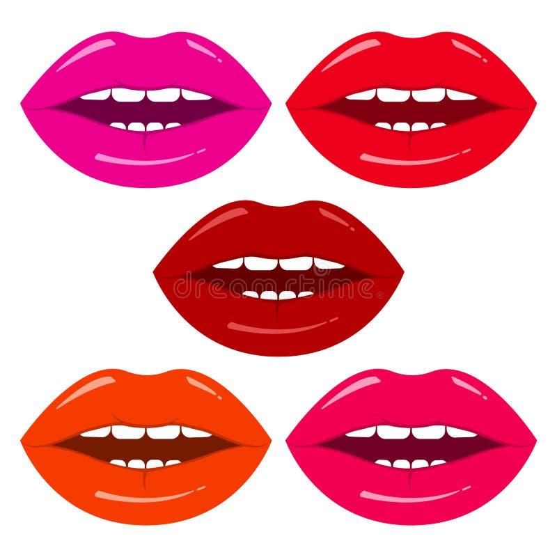 Ensemble de lèvres du ` s de femme Illustration de vecteur illustration libre de droits