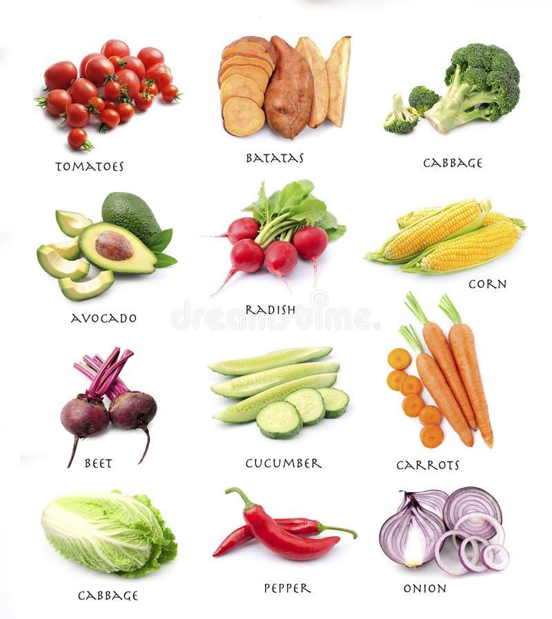 Ensemble de légumes photo stock