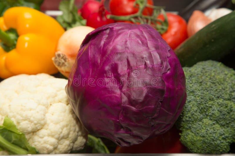 Ensemble de légumes frais et d'herbes Foyer sélectif Département peu profond images stock